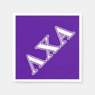 Serviette Jetable Lettres blanches de Chi de lambda alpha et
