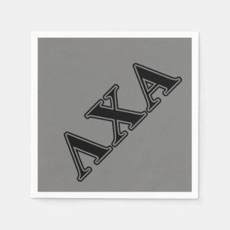 Serviette Jetable Lettres noires de Chi de lambda alpha