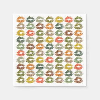 Serviette Jetable Lèvres colorées élégantes #32