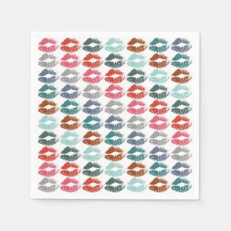 Serviette Jetable Lèvres colorées élégantes #33