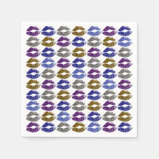 Serviette Jetable Lèvres colorées élégantes #40