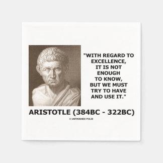 Serviette Jetable L'excellence d'Aristote pas assez Know doit
