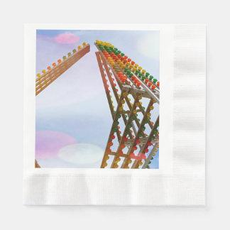 Serviette Jetable Lumières et horizon colorés de tour de journée