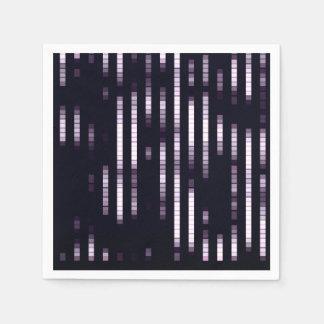 Serviette Jetable Lumières pourpres et blanches de motif abstrait