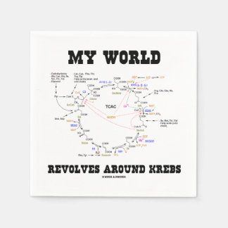Serviette Jetable Mon monde tourne autour de Krebs (le cycle
