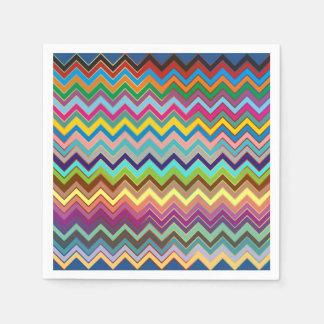 Serviette Jetable Motif de ZIGZAG - coloré + vos idées