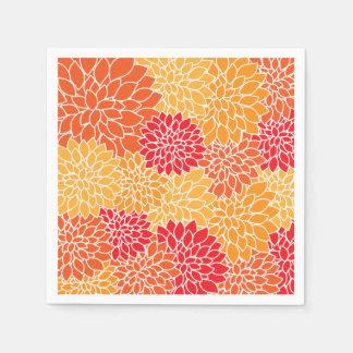 Serviette Jetable Motif floral coloré