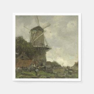 Serviette Jetable Moulin à vent néerlandais, Jacob Maris
