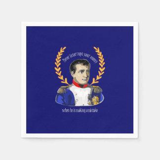 Serviette Jetable Napoleon Bonaparte - n'interrompez jamais votre