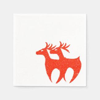 Serviette Jetable Noël rouge de serviettes de renne