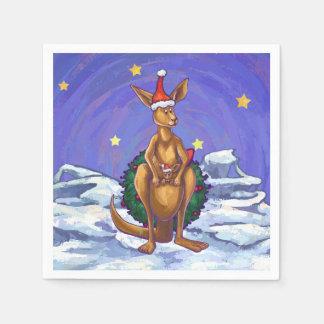 Serviette Jetable Nuit étoilée de Noël de kangourou