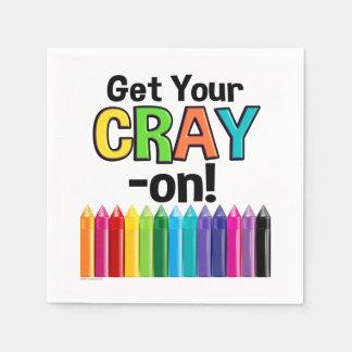 Serviette Jetable Obtenez votre Cray sur le professeur d'art fou de