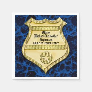 Serviette Jetable Obtention du diplôme de police d'insigne/partie de