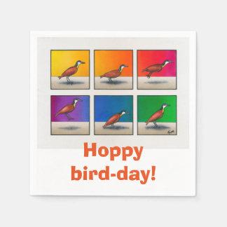 Serviette Jetable Oiseau-jour de houblon !