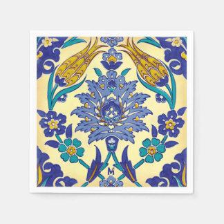 Serviette Jetable Ornement en céramique de cru de style d'Azulejo de
