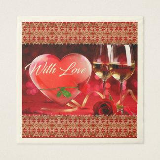 Serviette Jetable Papier de soie de soie de Saint-Valentin