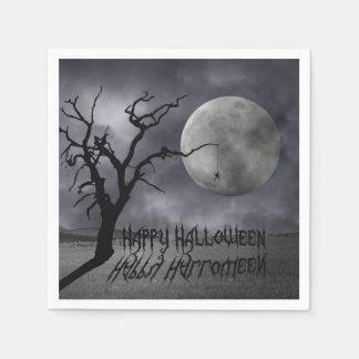 Serviette Jetable Paysage éffrayant Halloween - serviette de papier