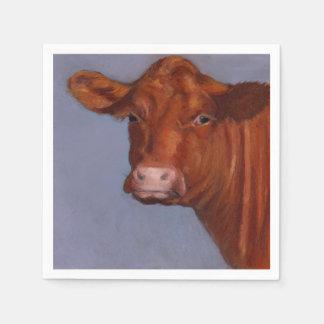 Serviette Jetable Peinture en pastel d'huile de vache de boucherie