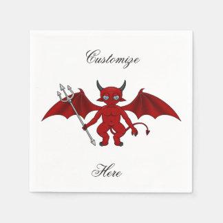 Serviette Jetable Petit diable rouge Thunder_Cove
