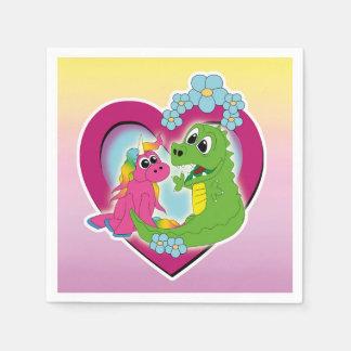 Serviette Jetable petits meilleurs amis - licorne et dragon