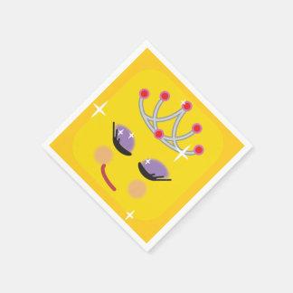 Serviette Jetable Princesse scintillante Emoji
