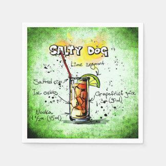 Serviette Jetable Recette salée de boissons de chien