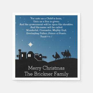 Serviette Jetable Sages personnalisés Bethlehem de Noël