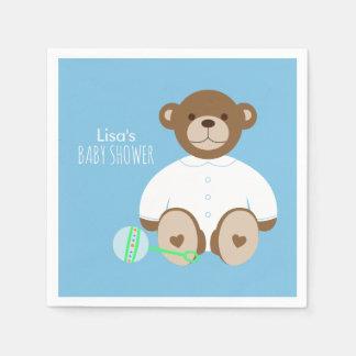 Serviette Jetable Serviette de papier de baby shower d'ours de