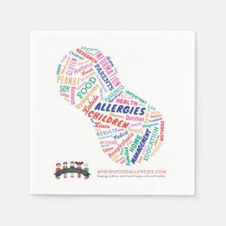 Serviette Jetable Serviette de papier des allergies alimentaires de