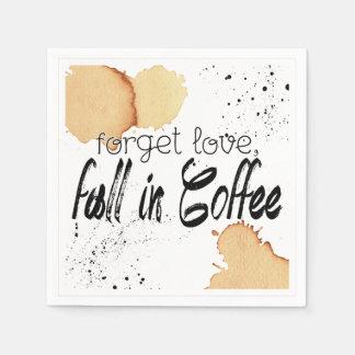 Serviette Jetable Serviette de papier orientée de café