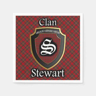 Serviette Jetable Serviette écossaise de tartan de Stewart de clan