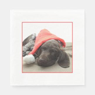 Serviette Jetable Serviette grisâtre brillante de fête de Noël