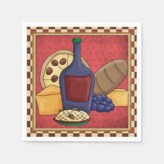 Serviette Jetable Serviettes de papier d'amusement italien de
