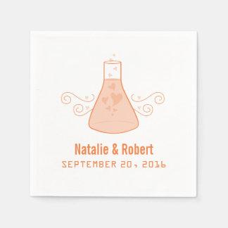 Serviette Jetable Serviettes de papier de chimie douce orange