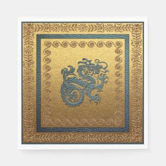 Serviette Jetable Serviettes de papier de déjeuner de dragon de jade