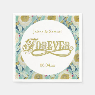 Serviette Jetable Serviettes de papier de mariage floral pour