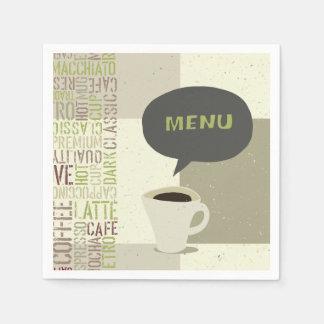 Serviette Jetable Serviettes de papier de menu de café