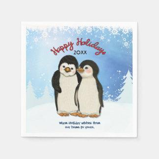 Serviette Jetable Serviettes de papier de Noël de pingouin