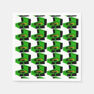 Serviette Jetable Serviettes de papier de pied-de-poule vert de