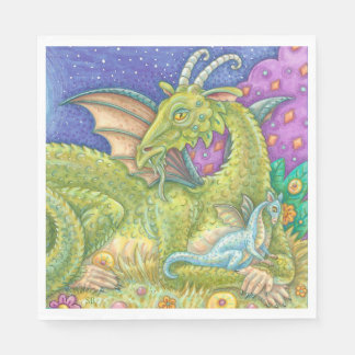 Serviette Jetable SERVIETTES DE PAPIER d'imaginaire de dragon de