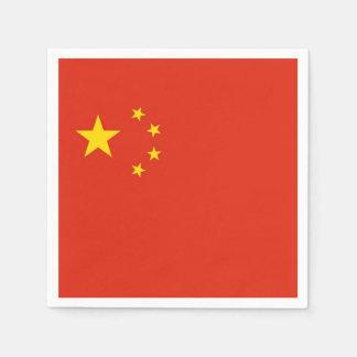 Serviette Jetable Serviettes de papier patriotiques avec le drapeau