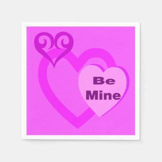 Serviette Jetable Serviettes de partie de coeurs de Valentine de