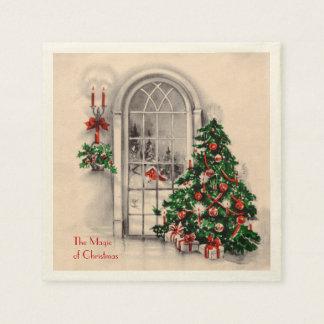 Serviette Jetable Serviettes de partie de fenêtre de Noël