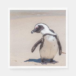 Serviette Jetable Serviettes espiègles de pingouin