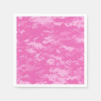Serviette Jetable Serviettes roses de motif de camouflage d'ACU Camo