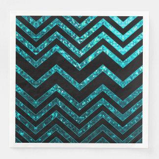 Serviette Jetable Texture d'étincelle de zigzag de serviette de