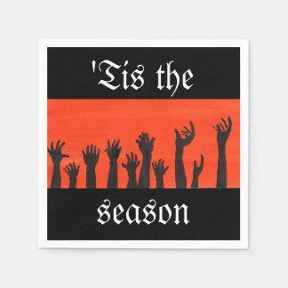 Serviette Jetable 'Tis la serviette de zombi de saison