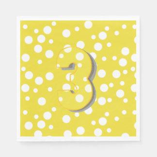 Serviette Jetable Trouvez serviettes d'anniversaire du numéro 3 les