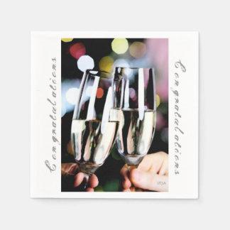 Serviette Jetable Un pain grillé en verre de Champagne de