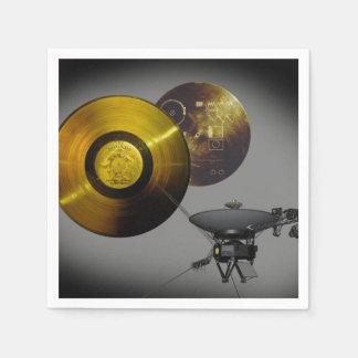 Serviette Jetable Vaisseau spatial de Voyager et disque d'or